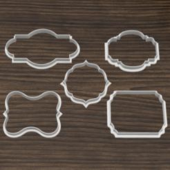 cortantes orlas 2.png Télécharger fichier STL Ensemble x10 coupe-biscuits à cadre vintage • Modèle à imprimer en 3D, 3dokinfo