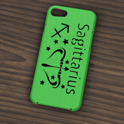 Download 3D printing models Case Iphone 7/8 Sagittarius sign, 3dokinfo