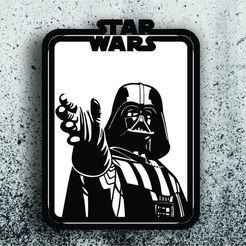 Télécharger STL Star Wars Picture - Dark Vador, 3dokinfo