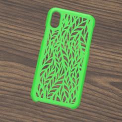 Case iphone X y XS leaf 1.png Descargar archivo STL Case Iphone X/XS leaf motif • Plan para la impresión en 3D, 3dokinfo