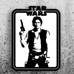 han solo.png Télécharger fichier STL Star Wars Chart - Han Solo • Plan imprimable en 3D, 3dokinfo