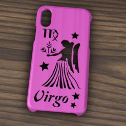 Case iphone X y XS virgo2.png Télécharger fichier STL Etui Iphone X/XS signe Vierge • Design pour impression 3D, 3dokinfo