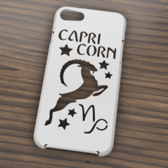 Download 3D printer designs Case Iphone 7/8 Capricorn sign, 3dokinfo