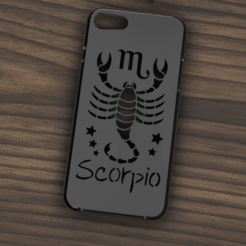 Download 3D printer designs Case Iphone 7/8 Scorpio sign, 3dokinfo