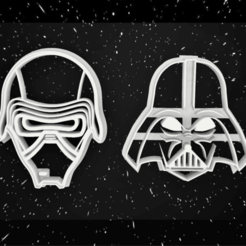 Cortante vader - Kylo ren2.png Download STL file COOKIE CUTTER DARTH VADER - KYLO REN • Object to 3D print, 3dokinfo