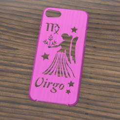 Download STL files Case Iphone 7/8 Virgo sign, 3dokinfo