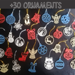 Download STL files Christmas ornaments x30 units, 3dokinfo