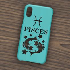 Case iphone X y XS Pisces.png Télécharger fichier STL Etui Iphone X/XS Signe Poisson • Objet pour imprimante 3D, 3dokinfo