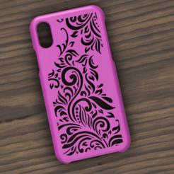 Case iphone X y XS mandala.png Télécharger fichier STL Etui Iphone X/XS mandalas • Objet pour imprimante 3D, 3dokinfo