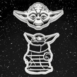 Descargar modelo 3D COOKIE CUTTER LOGOS MASTER YODA - BABY YODA, 3dokinfo
