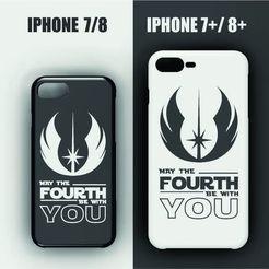 Télécharger modèle 3D Etui Iphone 7/8 - 7/8 plus - Jedi symbole de la guerre des étoiles, 3dokinfo