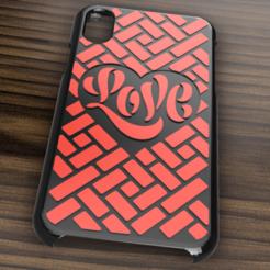 Case iphone X y XS love13.png Télécharger fichier STL Etui Iphone X/XS Love • Modèle imprimable en 3D, 3dokinfo