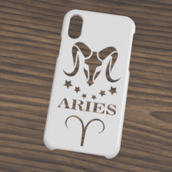 Case iphone X y XS aries.png Télécharger fichier STL Étui Iphone X/XS Aries • Design à imprimer en 3D, 3dokinfo