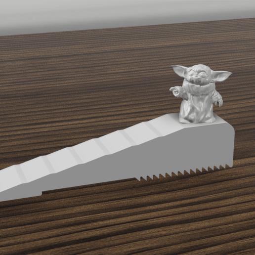 Download 3D printer designs baby yoda door stop, 3dokinfo