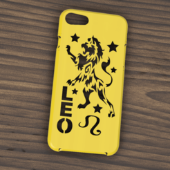 Download 3D printing templates Case Iphone 7/8 Leo sign, 3dokinfo