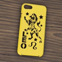 Descargar modelo 3D Case Iphone 7/8 Leo sign, 3dokinfo