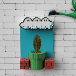 plantero mario ok.png Descargar archivo STL Flower pot Mario Bros • Modelo para la impresión en 3D, 3dokinfo