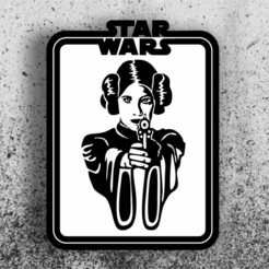 leia.png Télécharger fichier STL Star Wars Picture - Leia • Plan à imprimer en 3D, 3dokinfo