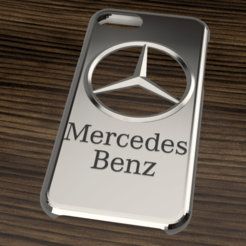 Case Iphone 7 y 8 Mercedes Benz.png Télécharger fichier STL Étui Iphone 7/8 Mercedes Benz • Design imprimable en 3D, 3dokinfo