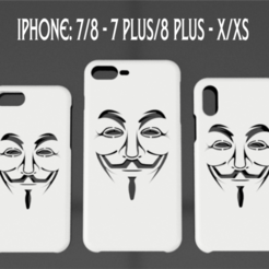 PORTADA V D V.png Download STL file CASE IPHONE 7/8 - 7/8 PLUS - X/XS V for Vendetta • 3D printer template, 3dokinfo