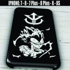 Imprimir en 3D Vegeta - Case Iphone X/XS - 7/8 - 7 Plus/8 Plus, 3dokinfo