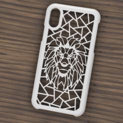 Descargar STL Case Iphone X/XS Lion, 3dokinfo