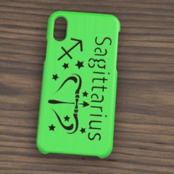 Case iphone X y XS Saguittarius.png Télécharger fichier STL Etui Iphone X/XS Signe du Sagittaire • Plan pour impression 3D, 3dokinfo