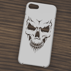 Descargar modelo 3D Case Iphone 7/8 Skull, 3dokinfo
