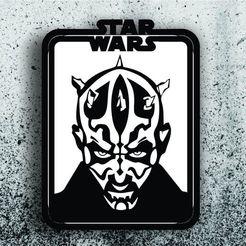 Télécharger fichier imprimante 3D Star Wars Picture - Dark Maul, 3dokinfo