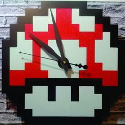 reloj estrella mario.jpg Download STL file MUSHROOM CLOCK FOR 3D PRINTING AND LASER CUTTING • Object to 3D print, 3dokinfo