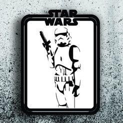 Stormtrooper.jpg Télécharger fichier STL Star Wars Picture - Stormtrooper • Modèle pour impression 3D, 3dokinfo