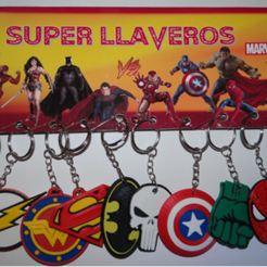 Download 3D print files Set x10 super hero keychains ( WORK FROM HOME), 3dokinfo