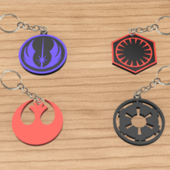llaveros star wars pack 4.png Download STL file PACK X4 KEYCHAIN STAR WARS • Template to 3D print, 3dokinfo