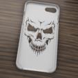 Download 3D printer files Case Iphone 7/8 Skull, 3dokinfo