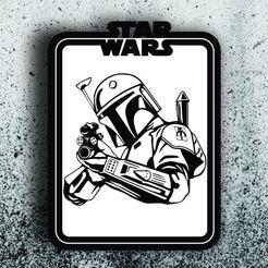Boba fett.jpg Télécharger fichier STL Star Wars Picture - Boba Fett • Design à imprimer en 3D, 3dokinfo