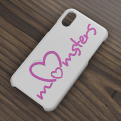 Descargar diseños 3D Case Iphone X/XS Momsters, 3dokinfo