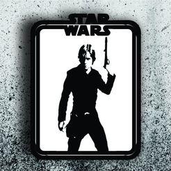 Télécharger STL Star Wars Picture - Luke Skywalker, 3dokinfo