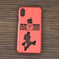 Descargar modelos 3D Case Iphone X/XS Mario Bross, 3dokinfo