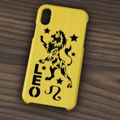 Case iphone X y XS Leo.png Télécharger fichier STL Etui Iphone X/XS Leo Sign • Objet pour imprimante 3D, 3dokinfo