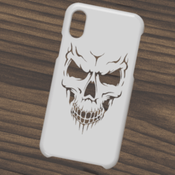 Download 3D printing files Case Iphone X/XS Skull, 3dokinfo