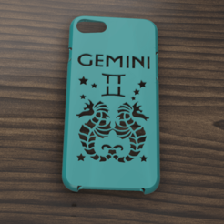 Download STL Case Iphone 7/8 Gemini sign, 3dokinfo