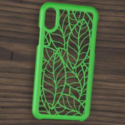 Download 3D printing templates Case Iphone X/XS leaf motif, 3dokinfo