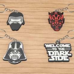 llaveros star wars pack 1.png Download STL file Pack x4 keychain star wars • Template to 3D print, 3dokinfo