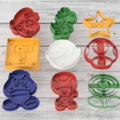cortantes mario x9.png Télécharger fichier STL Set x9 couteaux Mario Bros. • Design à imprimer en 3D, 3dokinfo
