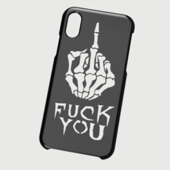 Impresiones 3D Case Iphone X/XS Fuck you, 3dokinfo