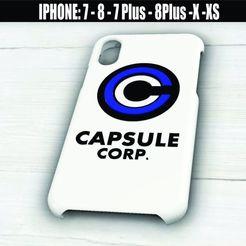 Descargar diseños 3D Capsule Corp - Case Iphone X/XS - 7/8 - 7 Plus/8 Plus, 3dokinfo