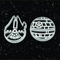 Download STL file COOKIE CUTTER LOGOS DEATH STAR - falcon millenium, 3dokinfo