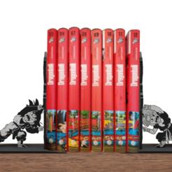 Descargar diseños 3D Book holder Dragon Ball, 3dokinfo