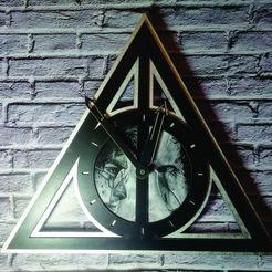 Télécharger fichier STL Harry Potter horloge horloge reliques de la mort pour l'impression 3D et la découpe laser, 3dokinfo