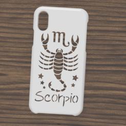 Case iphone X y XS Scorpio1.png Télécharger fichier STL Etui Iphone X/XS signe scorpion • Objet à imprimer en 3D, 3dokinfo